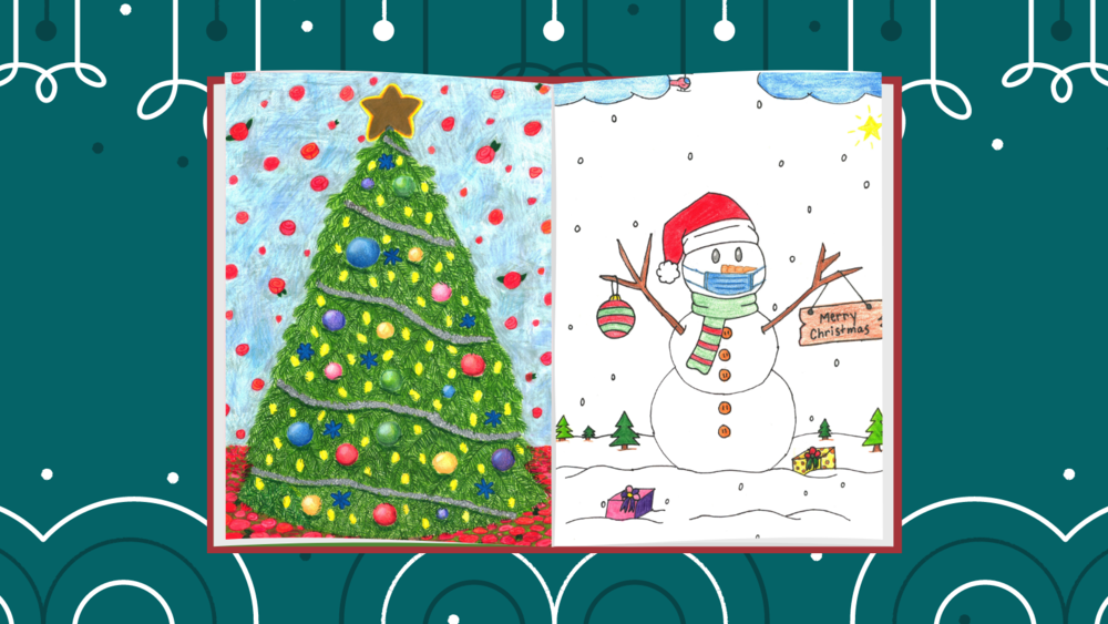 Two Tyler ISD Student Art Pieces Selected for District Christmas Card