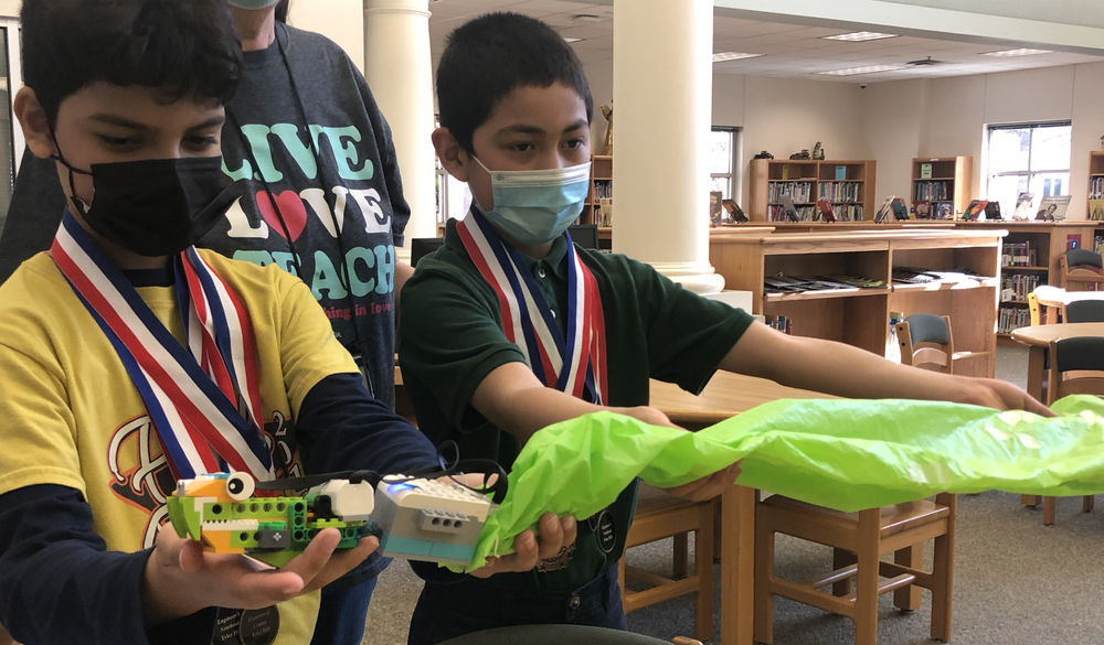 Tyler ISD Elementary Robotics Students Use Code, Creativity to Create Recycling Projects