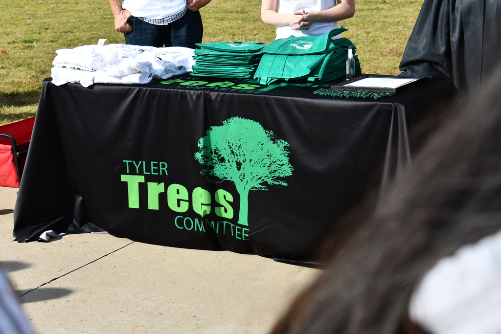 A booth for the Tyler Trees Committee.