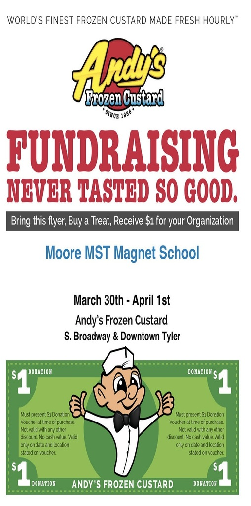 Andy's Frozen Custard  Fundraiser