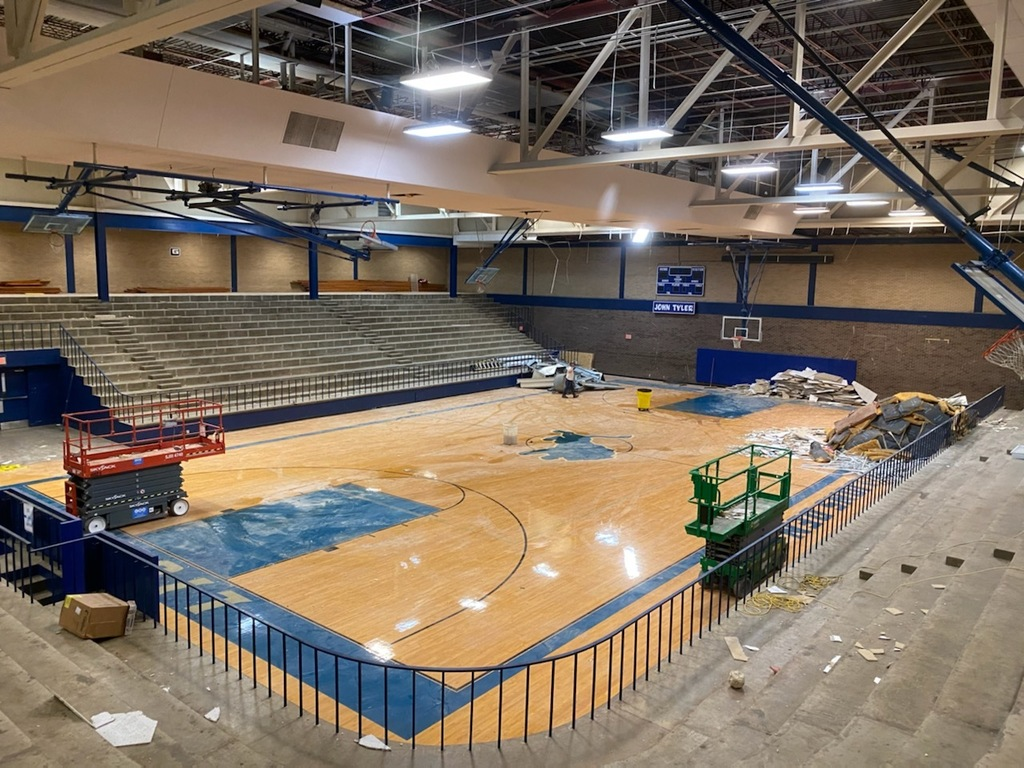 Demolition has begun at the Tyler High Varsity Gym in preparation for its major renovation.